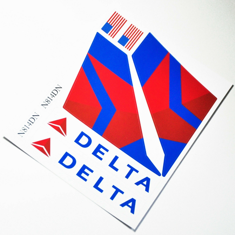 Custom sticker for MOC LEGO 3182 7893 7894 Delta Airways, Premium quality sticker only.
