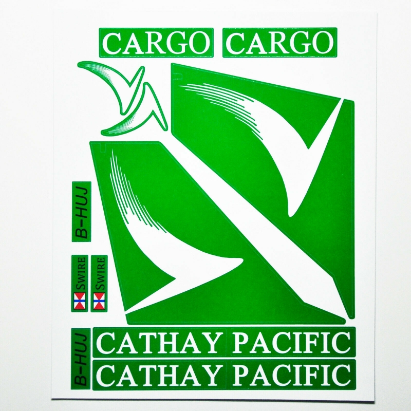 Custom sticker for MOC LEGO 7734 Cathay Pacific Airways, Premium quality sticker only.