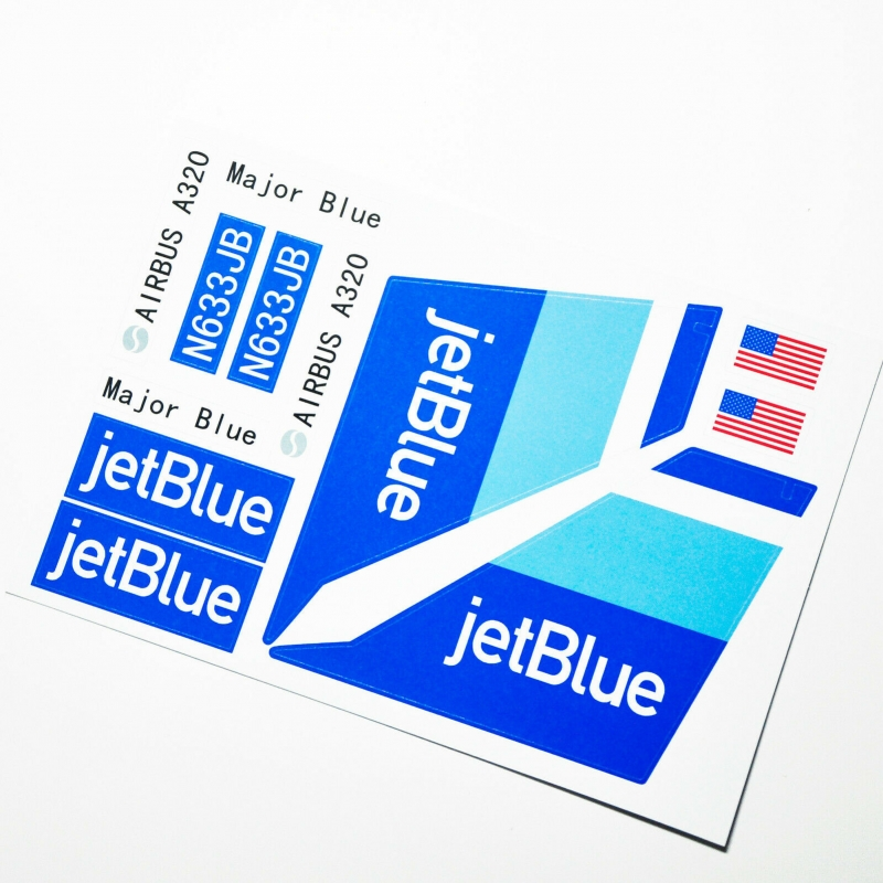 Custom sticker for MOC LEGO 60104 Jetblue Airways, Premium quality sticker only.