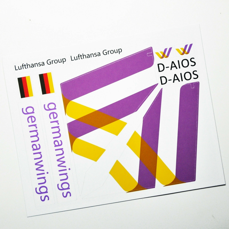 Custom sticker for MOC LEGO 41109 Germanwings Airways, Premium quality sticker only.
