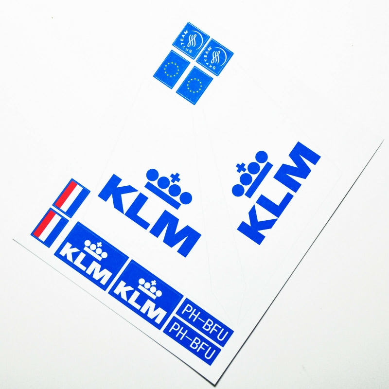 Custom sticker for MOC LEGO 60104 KLM Royal Dutch Airways, Premium quality sticker only.