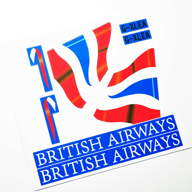 Custom sticker for MOC LEGO 60104 British Airways, Premium quality sticker only.