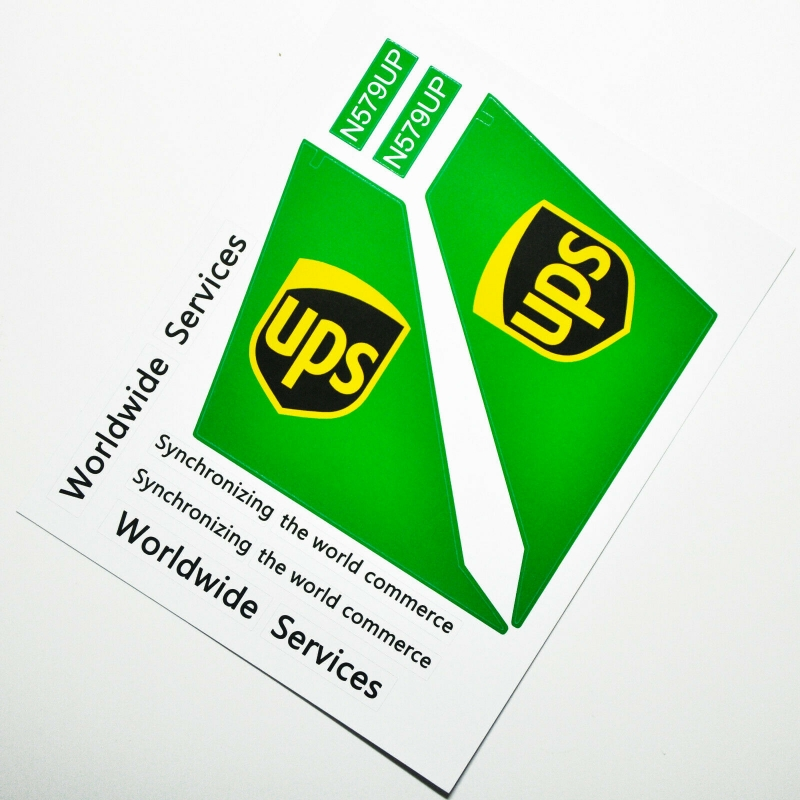 Custom sticker for MOC LEGO 60022 UPS Airways, Premium quality sticker only.