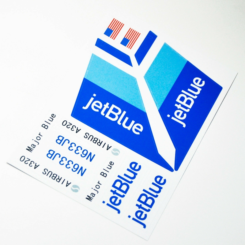 Custom sticker for MOC LEGO 7893 Jetblue Airways, Premium quality sticker only.
