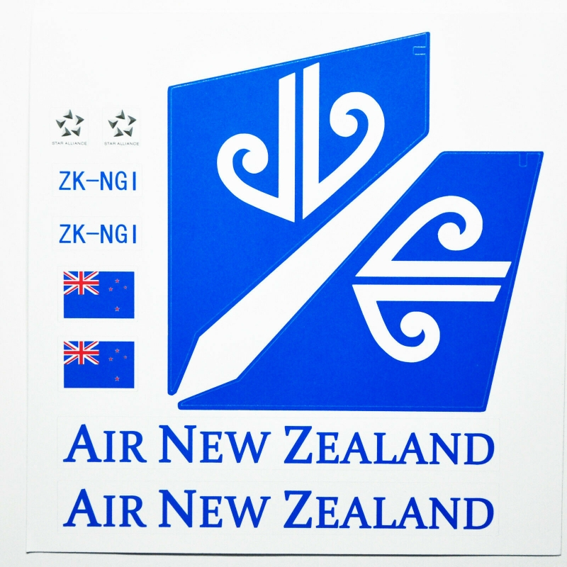 Custom sticker for MOC LEGO 7893 Air New Zealand Airways, Premium quality sticker only.
