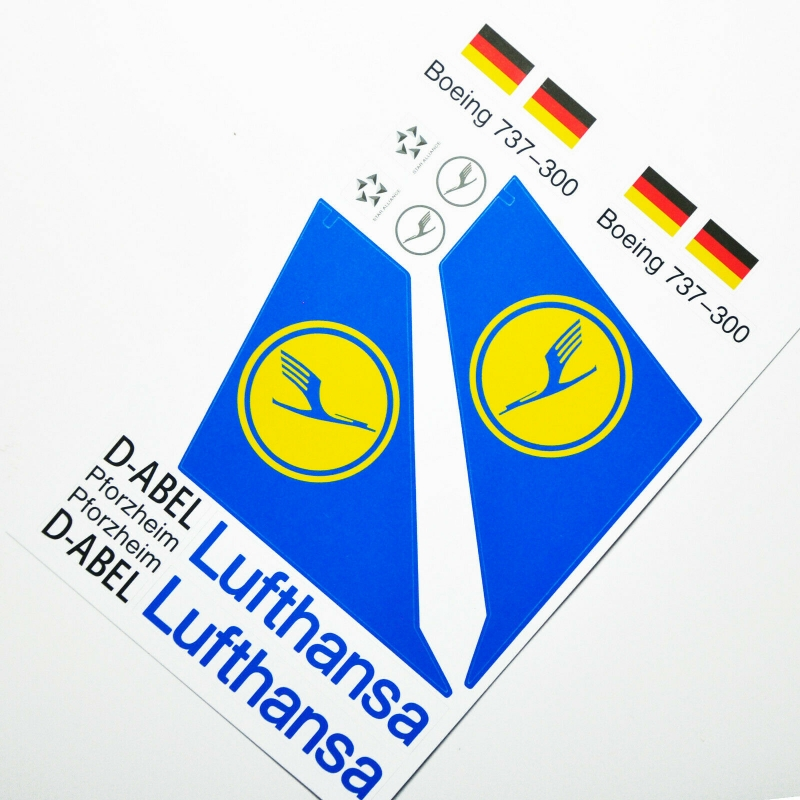 Custom sticker for MOC LEGO 7893 Lufthansa Airways, Premium quality sticker only.