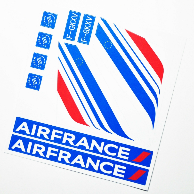 Custom sticker for MOC LEGO 60104 France Airways, Premium quality sticker only.