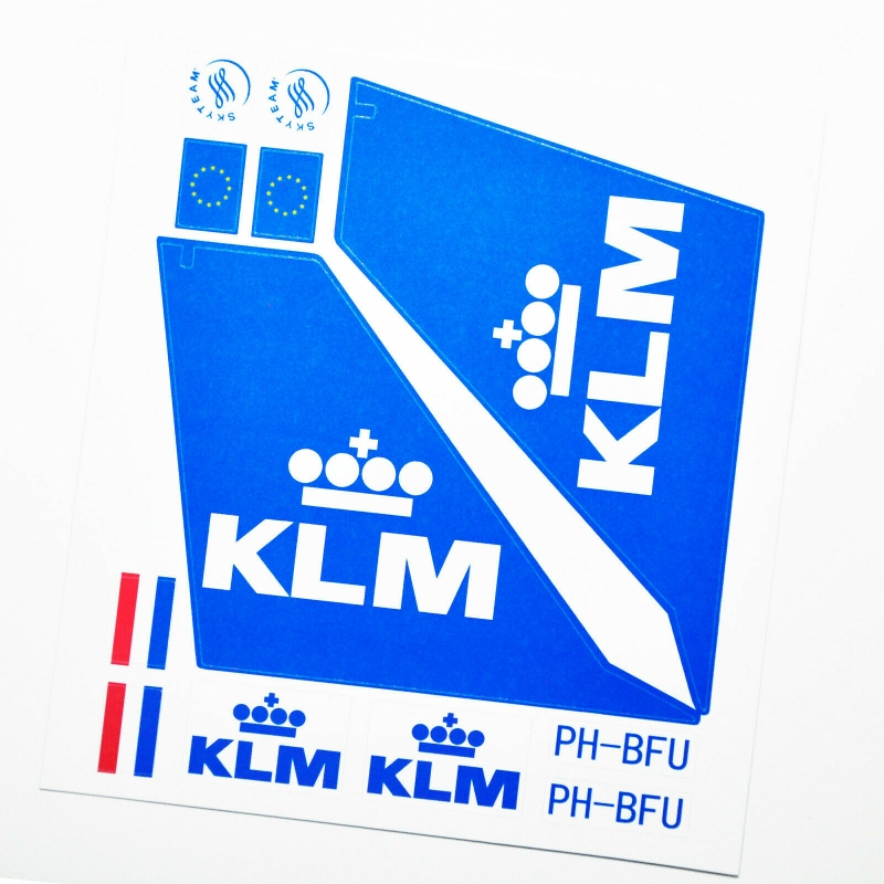 Custom sticker for MOC LEGO 7893 KLM Royal Dutch Airways, Premium quality sticker only.
