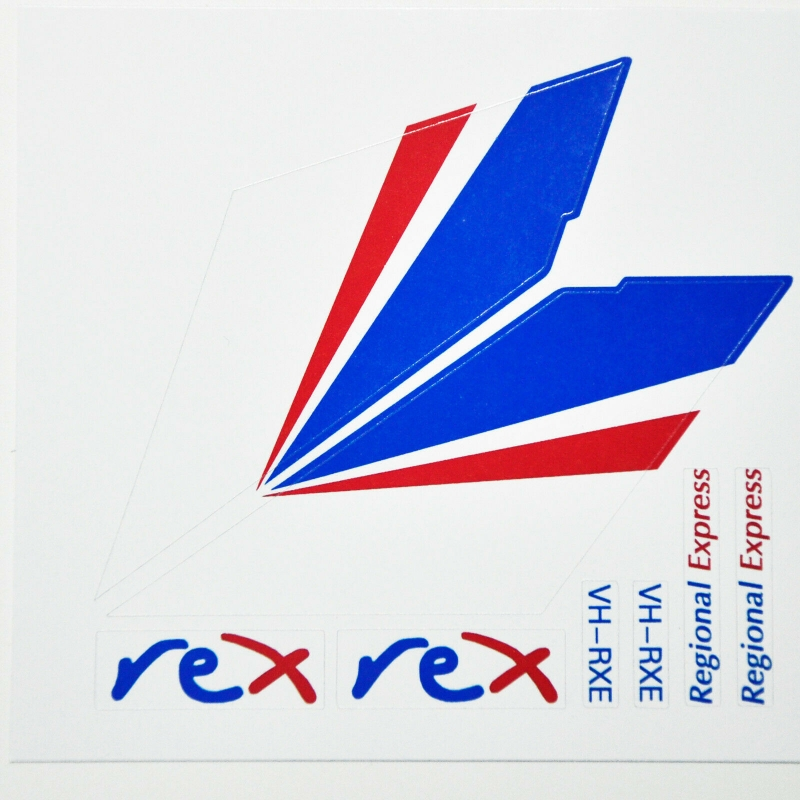 Custom sticker for MOC LEGO 3181 REX Airlines, Premium quality sticker only.