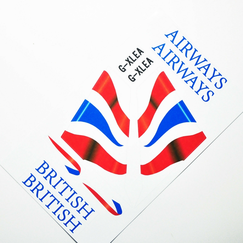 Custom sticker for MOC LEGO 3182 7893 7894 British Airways, Premium quality sticker only.