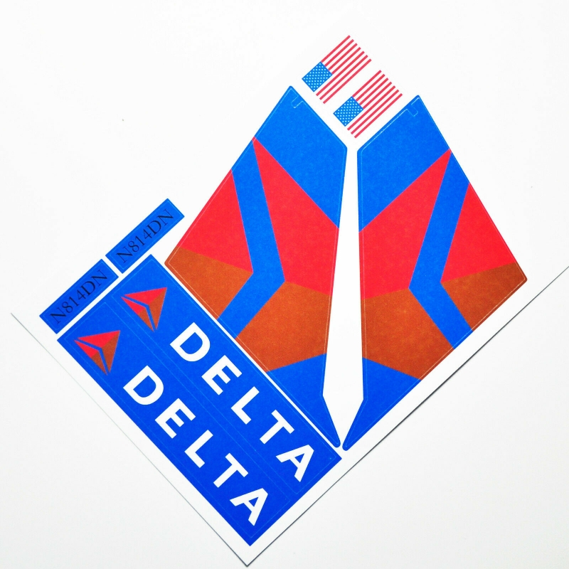 Custom sticker for MOC LEGO 60104 Delta Airways, Premium quality sticker only.